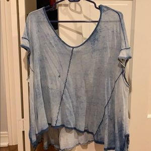 a blue free people top